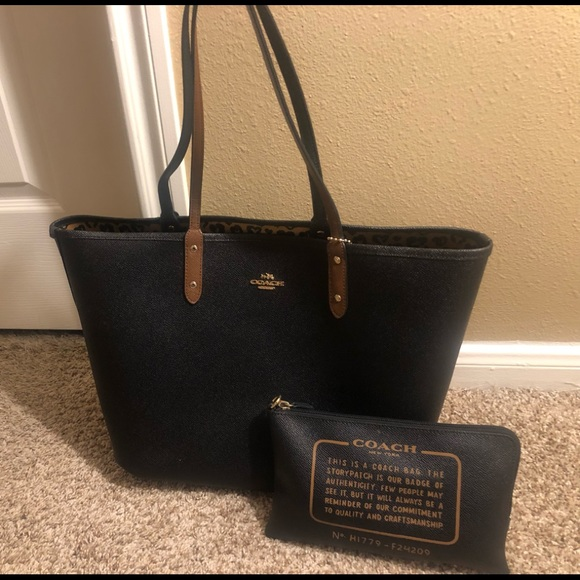 Coach Handbags - Coach City Tote with Pouch